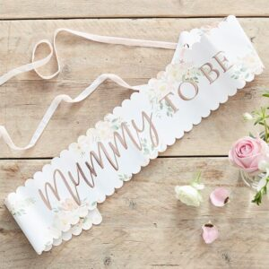 Mummy to Be Floral Sash