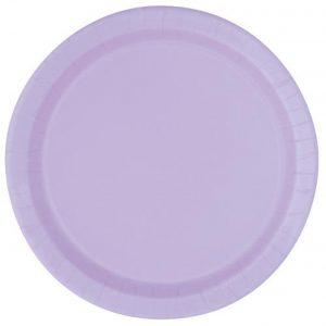 lavender party plates