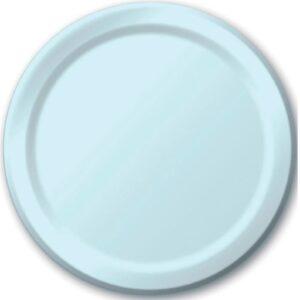 light blue party plates