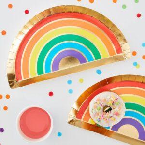 Rainbow Plates Gold Foiled