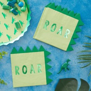 Dinosaur Paper Napkins Roar