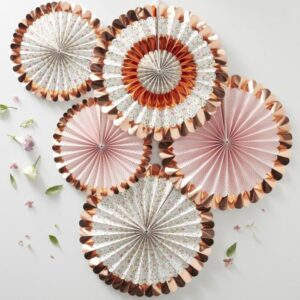 rose gold paper decorations