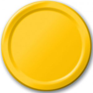 Yellow paper plates